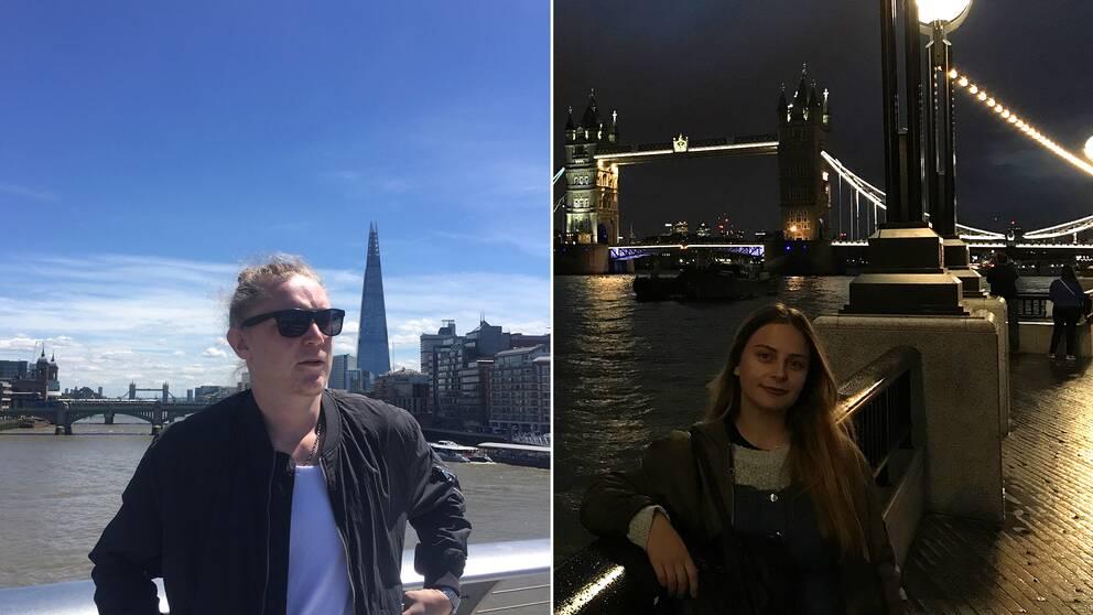 Niclas och Nathalie stod på London bridge när dådet inträffade.