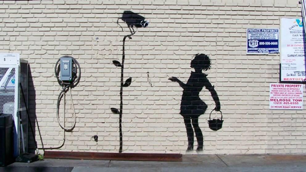 """""""Flower Girl"""" heter Banksys målning som i december kommer auktioneras ut i USA."""
