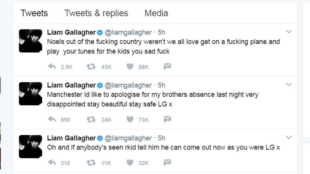 Liams tweets.