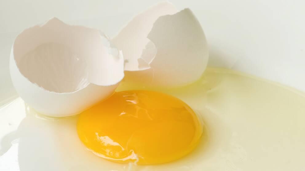 Knäckt ägg.