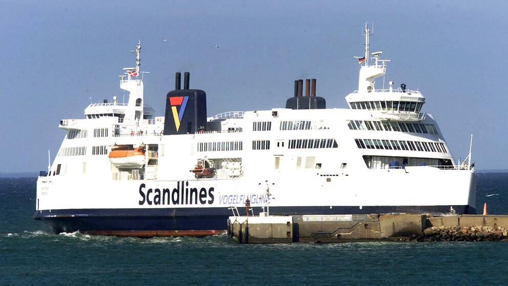 En av Scandlines färjor mellan Danmark och Tyskland