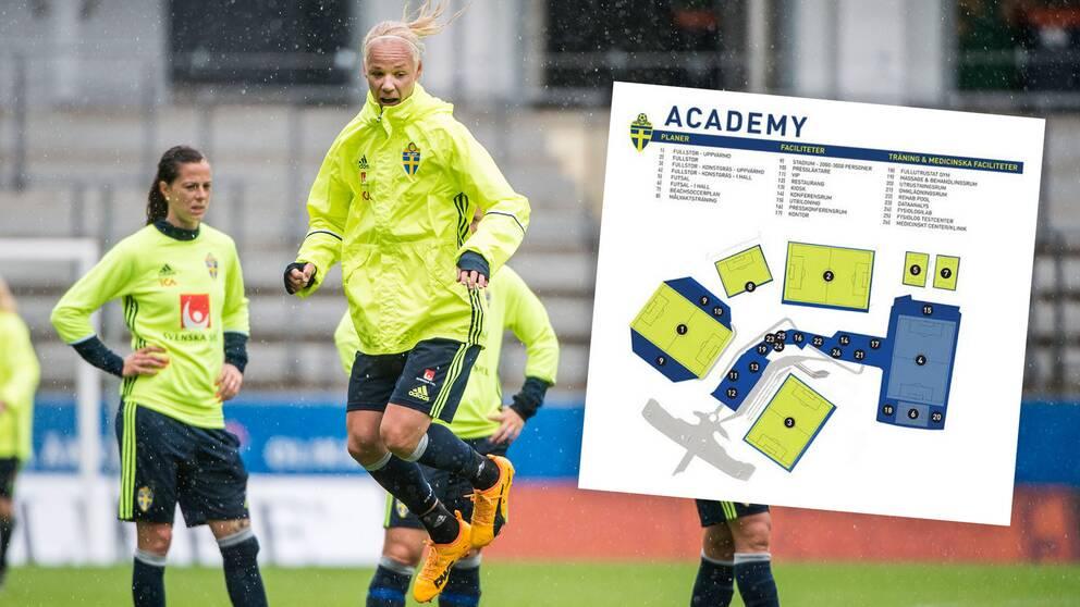 0327c68c Förutsättningarna för svensk fotboll ska bli bättre med ny tränings- och  utvecklingsanläggning.