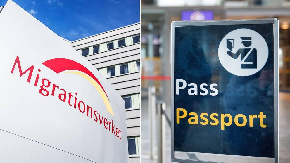 Migrationsverket och en passkontroll