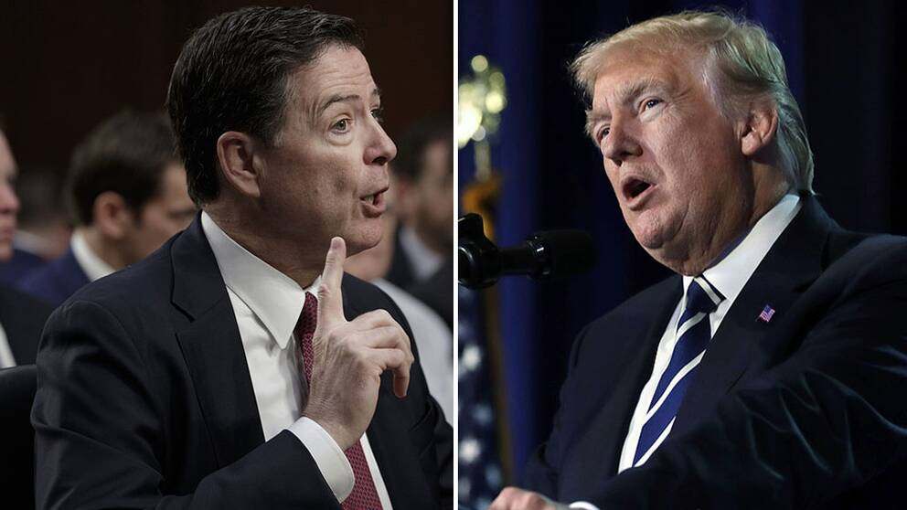 James Comey och Donald Trump.