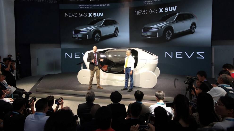 NEVS presenterar två nya elbilar och en konceptbil på årets CES-mässa i Shanghai