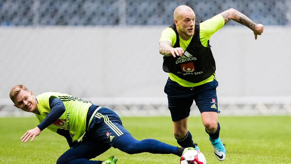 Emil Krafth och John Guidetti är två av spelarna som kliver in från start i matchen mot Norge.