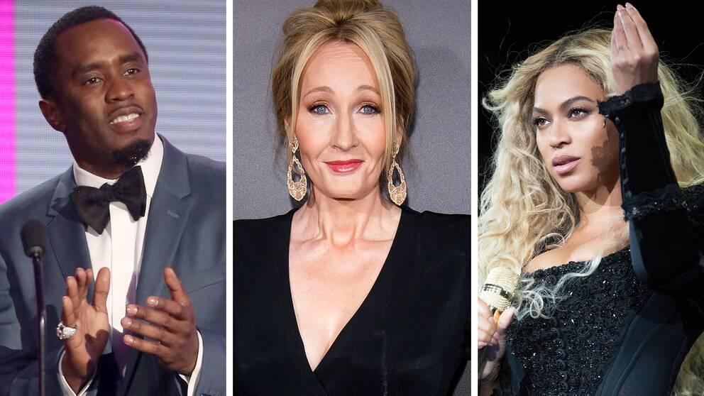 8e8cd1a57608 Sean Combs, J.K. Rowling och Beyoncé drog in mest kulor förra året.