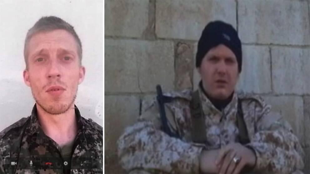 Bilder på svenskar som strider i Raqqa.