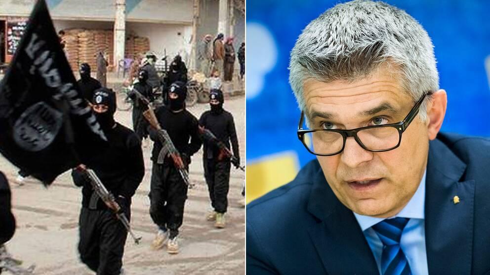 -Vi skulle säga att det gått från hundratals till tusentals islamistiska extremister i Sverige nu, säger Säpos generaldirektör Anders Thornberg.