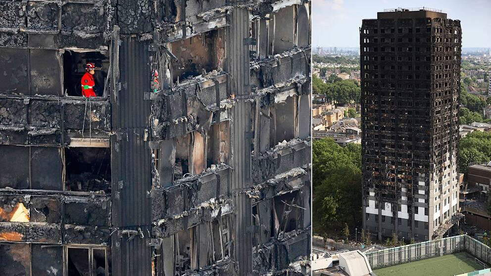 70 befaras doda efter branden i grenfell tower
