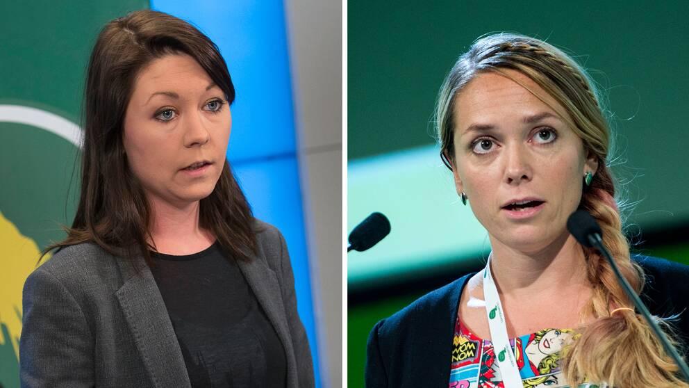 Maria Ferm (MP) och Johanna Jönsson (C).