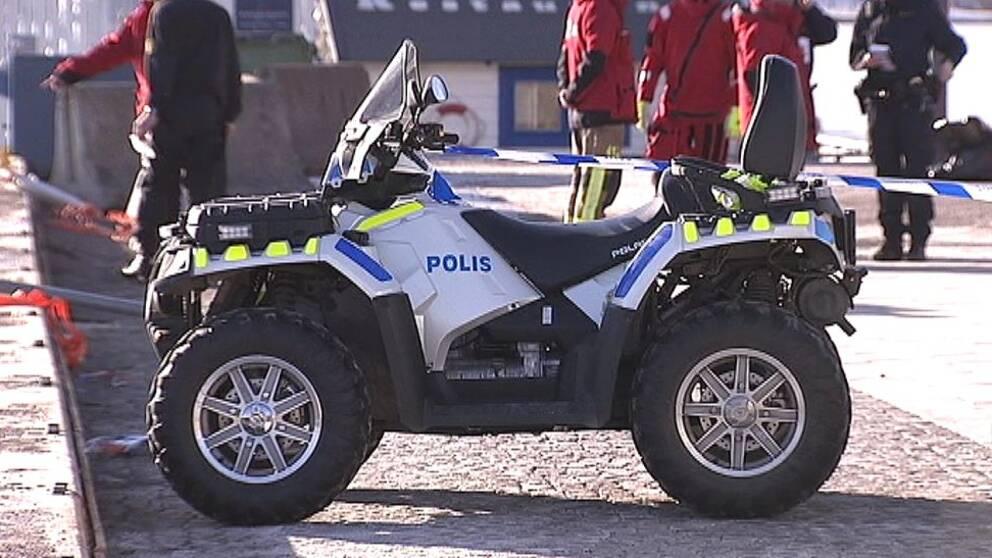 En man omkom i fyrhjulingsolycka