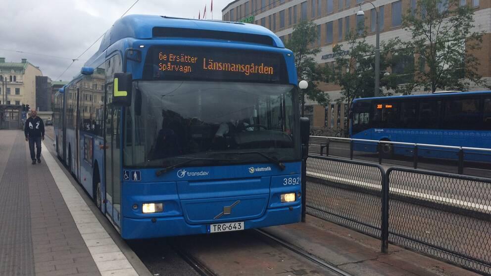 Västtrafik sätter in ersättningsbussar.
