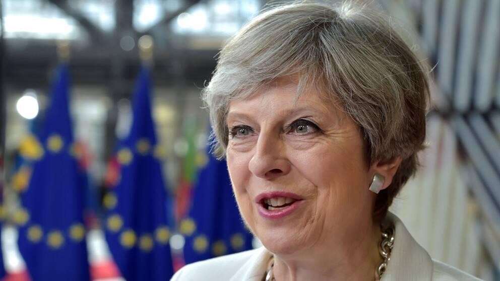 Theresa May på EU-toppmötet i Bryssel.