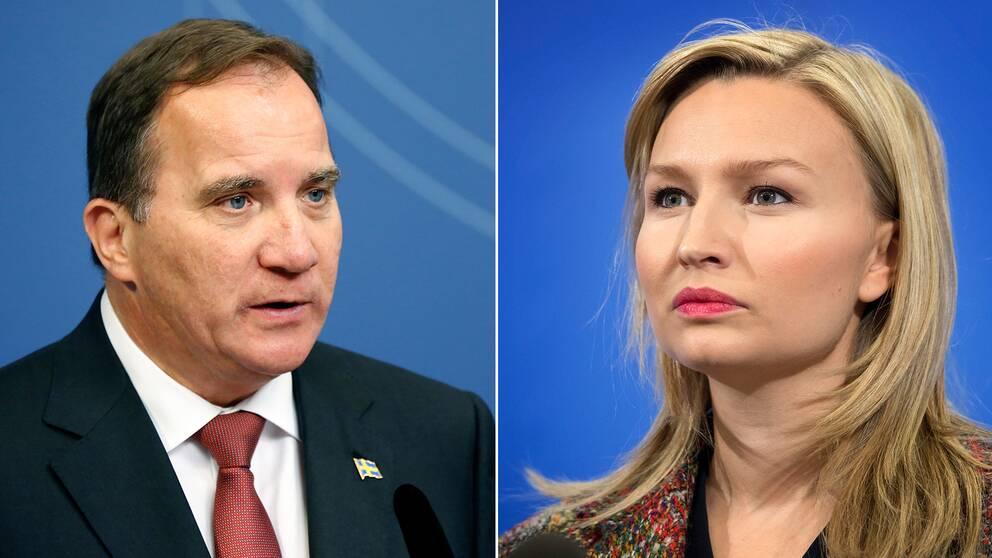 Statsminister Stefan Löfven (S) och Ebba Busch Thor (KD).