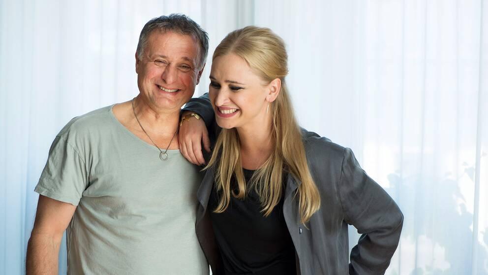"""Vera Vitali och Michael Nyqvist spelar huvudrollerna i Ulf Malmros film """"Min så kallade pappa"""", 2014."""
