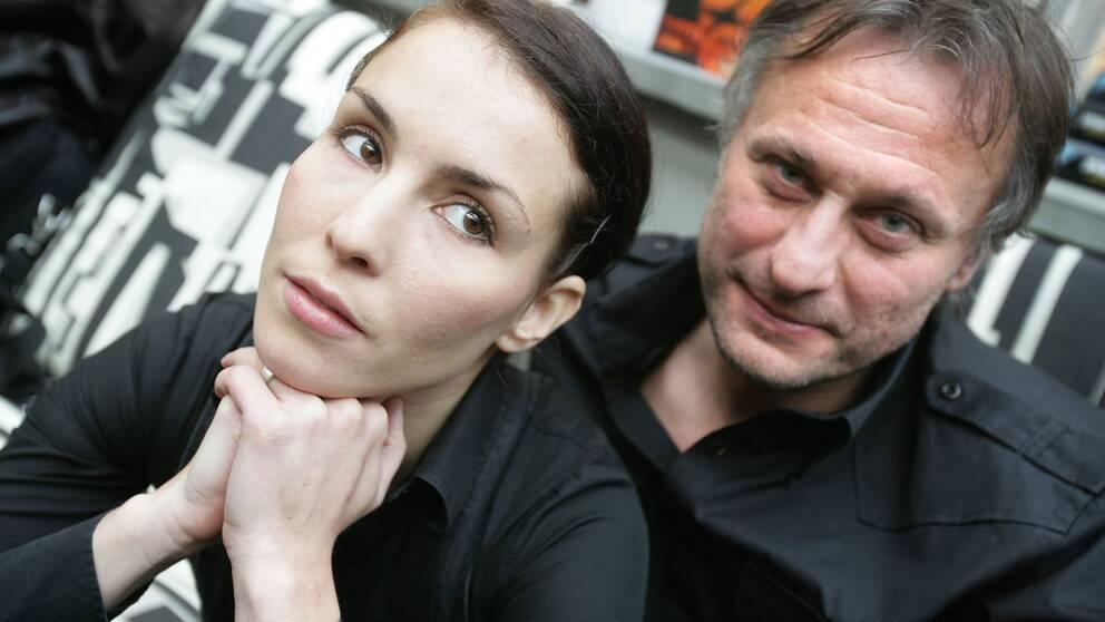 Noomi Rapace och Michael Nyqvist spelade huvudrollerna i filmatiseringen av Stieg Larssons succéromaner. 2007.