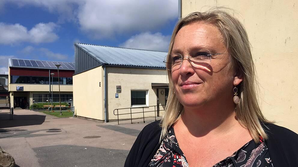 Chatarina Mardell, rektor på Östergårdsskolan i Halmstad.