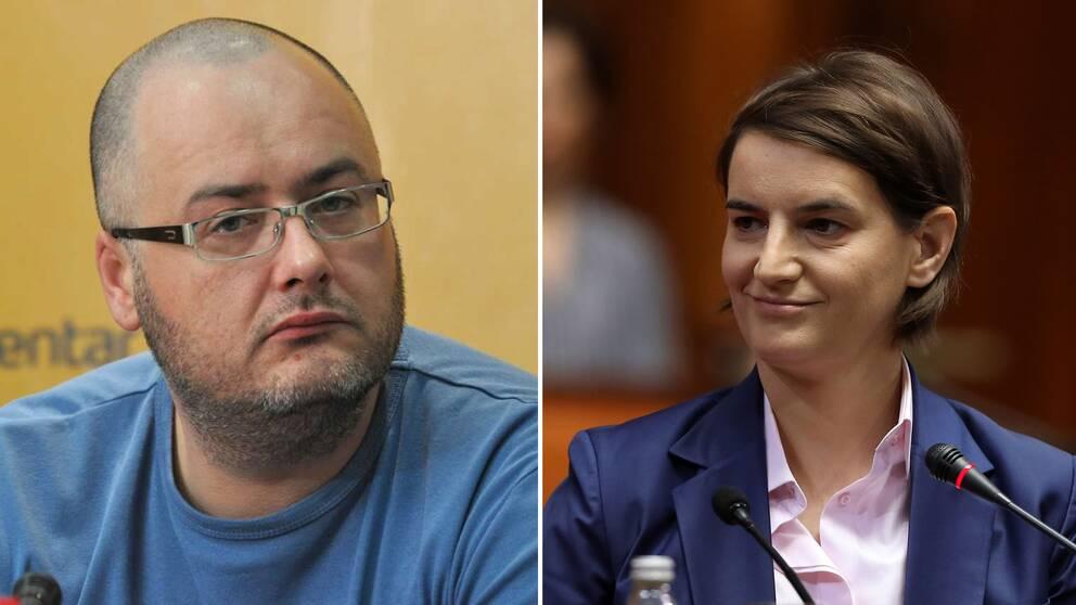Den tidigare hbtq-aktivisten Boris Milićević och Serbiens nya premiärminister, Ana Brnabić.