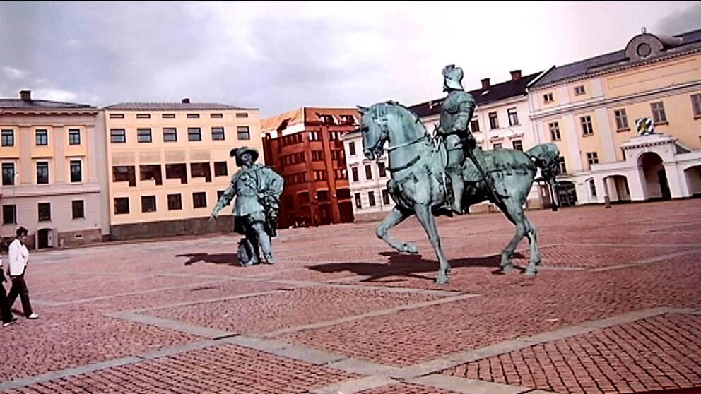 Så här vill Ruben Östlund att Gustav Adolfs torg i Göteborg ska se ut.