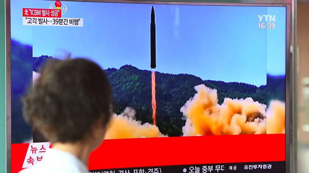 Nordkoreas uppskjutning av en interkontinental robot.