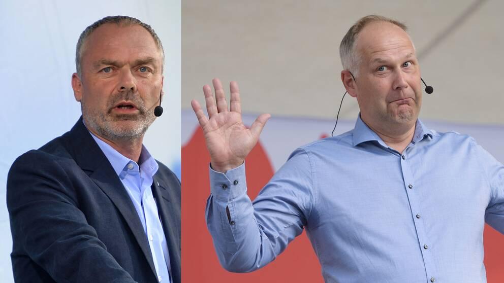 Jan Björklund och Jonas Sjöstedt.