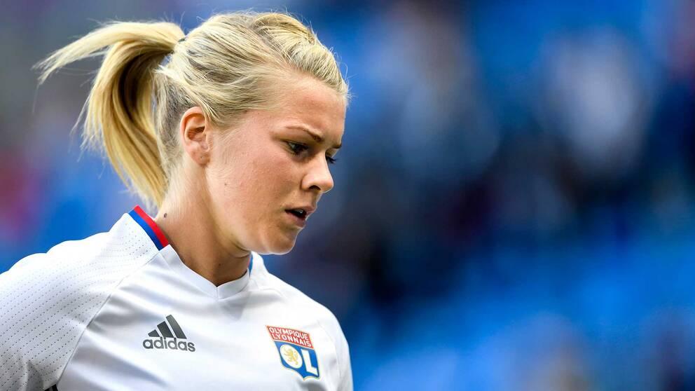 Norska stjärnan Ada Hegerberg spelar till vardags i franska Champions League-mästaren Lyon.
