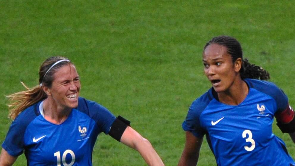 Lyons stjärna Wendie Renard (t.h.) är en av Frankrikes vassaste spelare.
