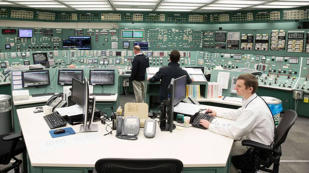 Kontrollrum i ett amerikanskt kärnkraftverk. Arkivbild.