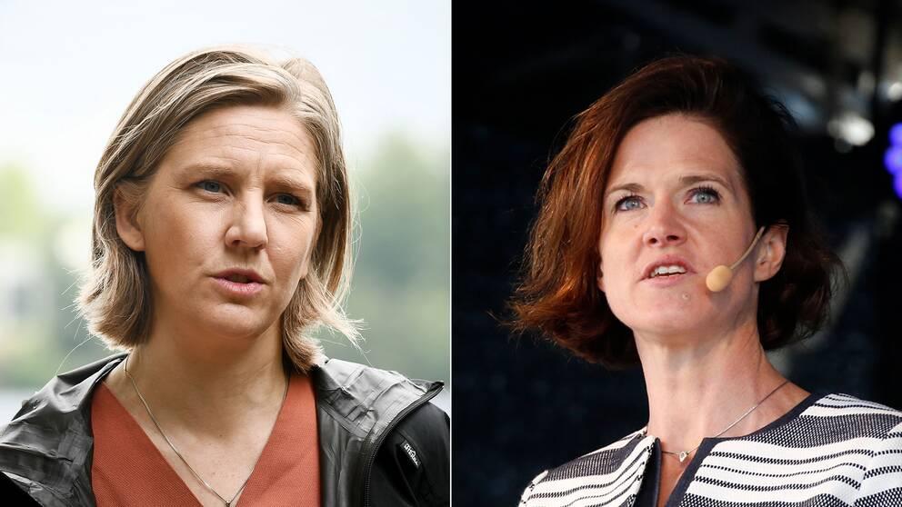 Karolina Skog (MP) och Anna Kinberg Batra (M).