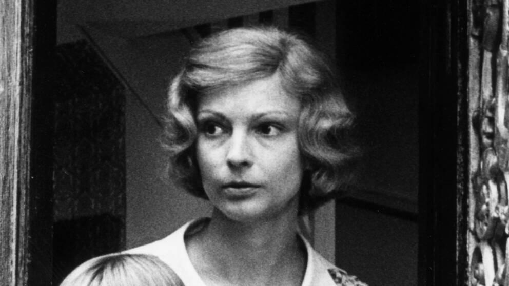"Monica Nordquist i tv-serien ""Den vita stenen"" från 1973."