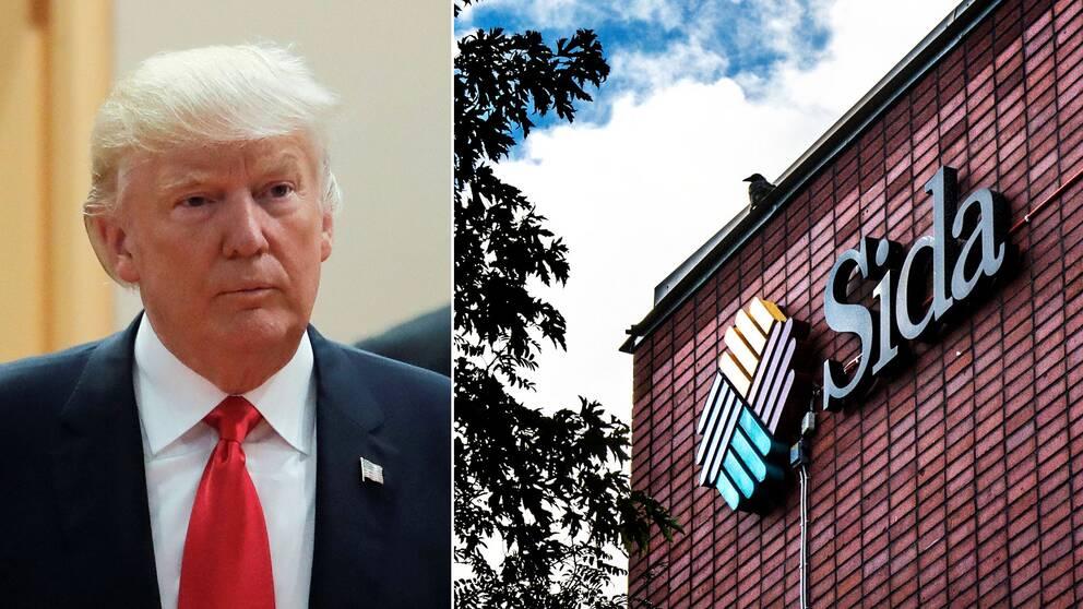 Donald Trump och Sidas logotyp
