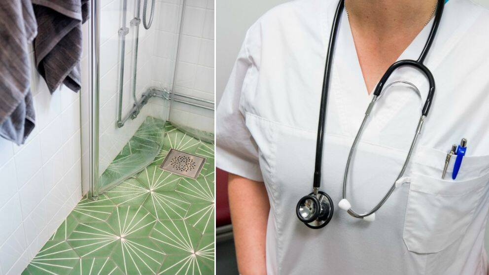 badrum, dusch, sjuksköterska