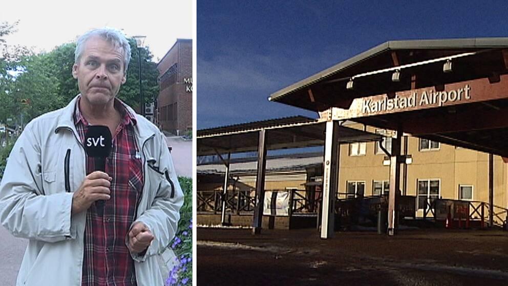 Bengt Hedin och Karlstad flygplats.