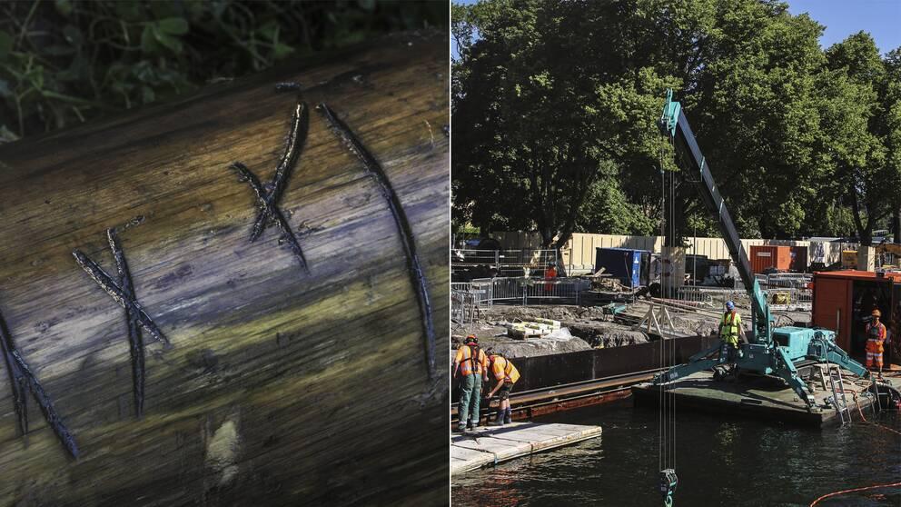 I samband med renoveringen av Skeppsholmens kajer har man hittat vrakdelar från ett skepp som tros vara från 1600-talet.