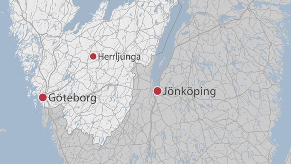 Karta över västra Sverige