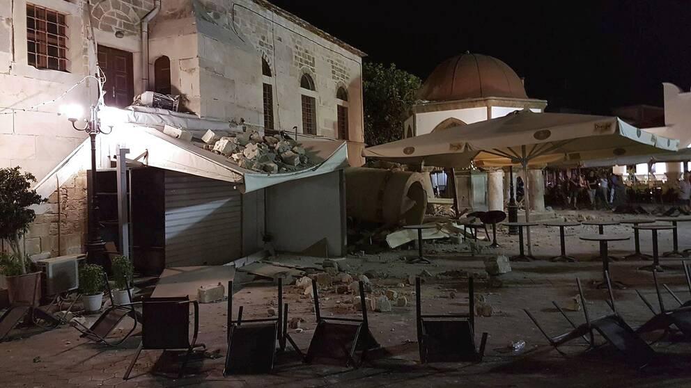 Jordbävning på grekiska ön Kos.