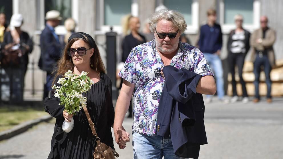 Skådespelaren Leif Andrée och Sophia Artin.