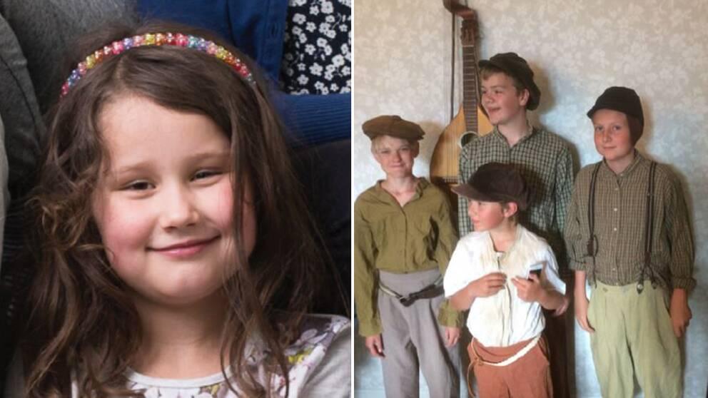 Lilla älvan, Olivia Björkman från Lund. Operan har inte sju dvärgar utan sju barn som arbetar i en gruva, fyra av dem är Vilot, Albin, August och Axel.