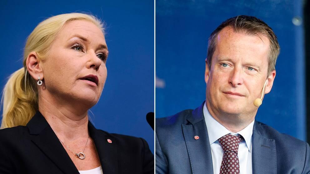 Anna Johnasson (S) och Anders Ygeman (S).