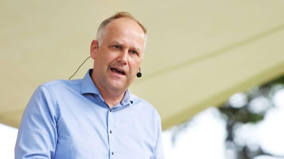 Vänsterpartiets ledare Jonas Sjöstedt.