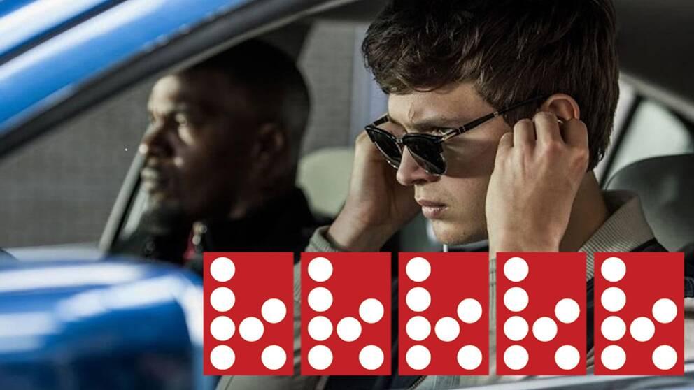 """Jamie Foxx och Ansel Elgort i """"Baby Driver""""."""
