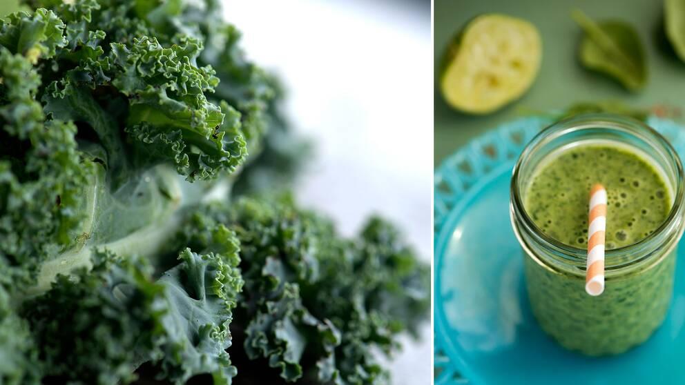 äta rå grönkål