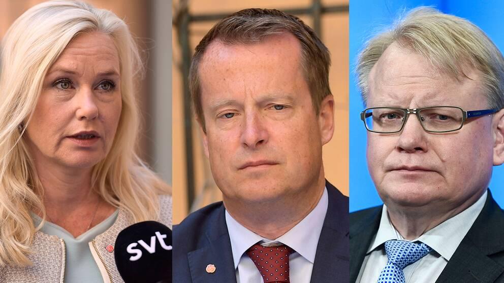 Alliansen väcker misstroendeförklaring mot infrastrukturminister Anna Johansson, inrikesminister Anders Ygeman och försvarsminister Peter Hultqvist.