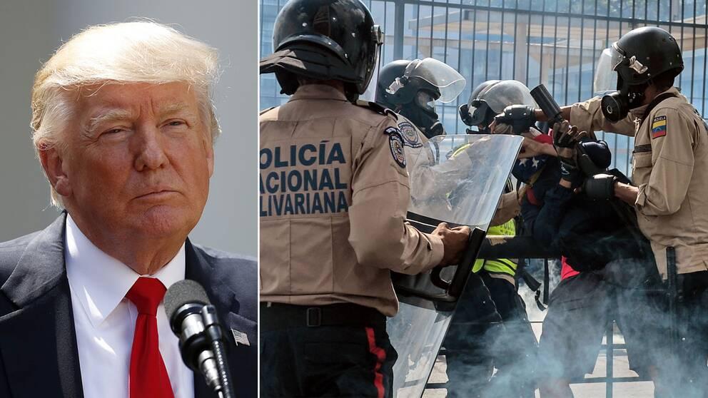 Trump och poliser
