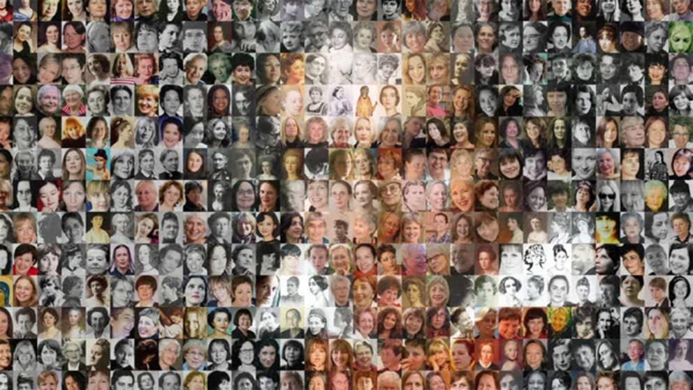 Detalj ur Kvasts affisch med 812 kvinnliga tonsättare och Beethoven