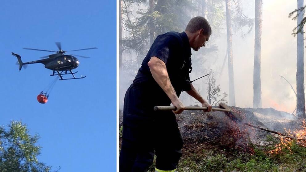 Skogsbrand i osthammar under kontroll