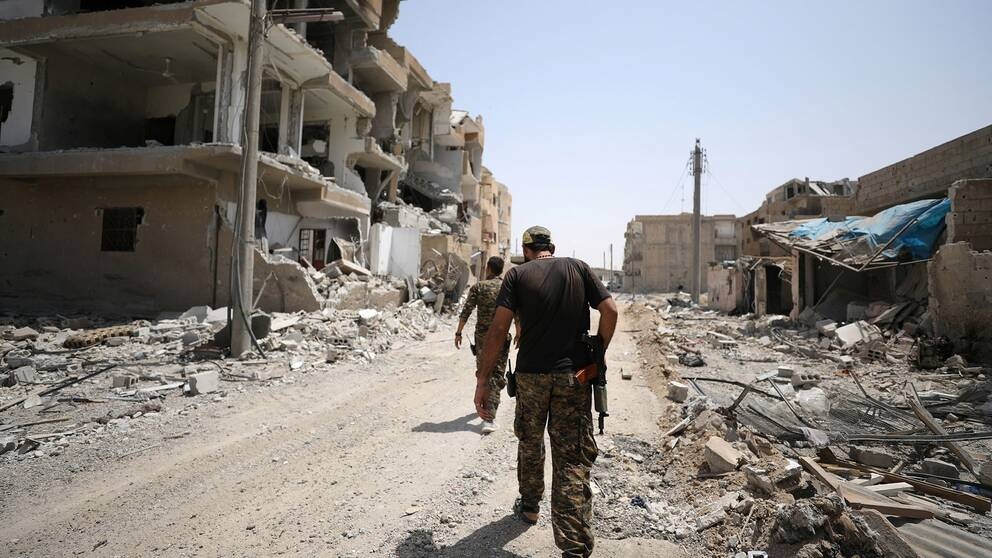 SDF-krigare i Raqqa, Syrien
