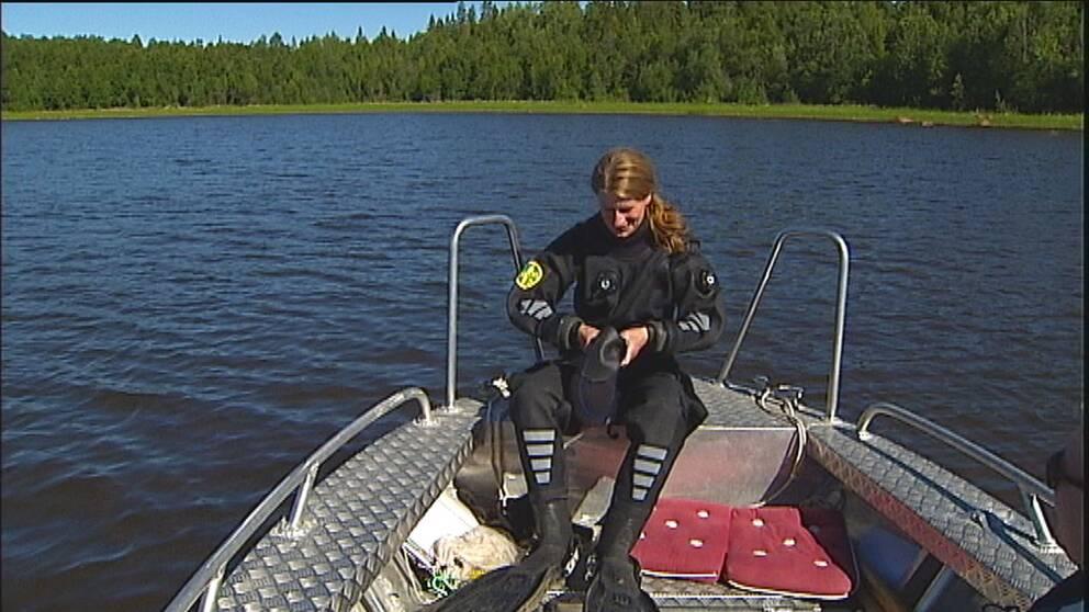Marinbiologen Linnea Bergdahl