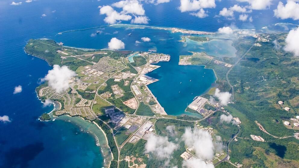 Flygbild över Guam